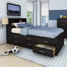 Bookcase Beds With Storage Twin Storage Bed With Bookcase Headboard Foter