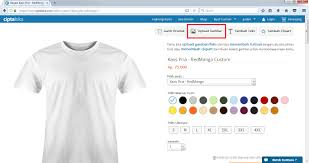 edit desain kaos online cara mudah membuat kaos custom sendiri di ciptaloka com