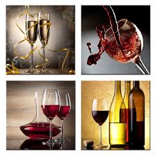 amazon com home art contemporary art red wine giclee canvas