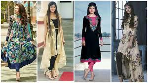 new designer casual wear cotton long kurtis designs for girls
