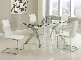 Extension Glass Dining Table By Chintaly - Glass dining room table with extension