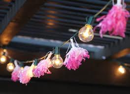 String Chandelier Diy Diy Tissue Tassel String Lights Persia Lou