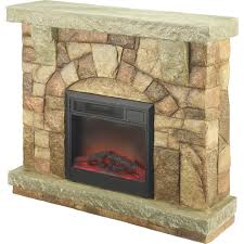 profusion heat polystone fireplace with mantel u2014 4 400 btu model