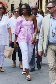 michelle obama masters chic vacation style in italy vogue