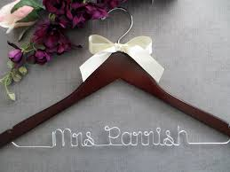 bridal hanger with bow wedding dress hanger by 7thandmagnolia