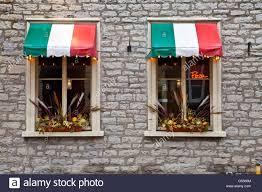 Flags Restaurant Menu Italian Restaurant Windows Italian Flag Colored Awnings Neon