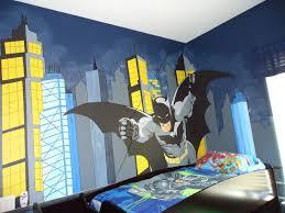 custom gotham city and batman control room mural by kid murals by custom made gotham city and batman control room mural