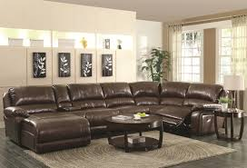 Reclining Leather Sofa Coaster Mackenzie Chestnut 6 Piece Reclining Sectional Sofa With