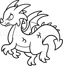 simple drawing of a dragon how to draw a simple dragon step step