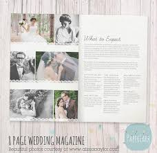 wedding magazine template 22 page wedding photography magazine template pg004 paper lark