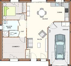 plan plain pied 2 chambres plan de maison plain pied 2 chambres evtod