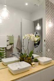 Pendant Lighting Over Bathroom Vanity by The Block Glasshouse Apartment 6 Week 1 Wall Tiles Pendant
