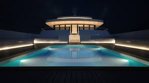 superyacht project light swimming pool by night u2014 luxury yacht