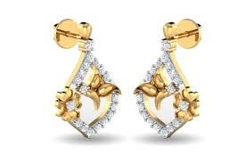 daily wear diamond earrings buy nitya diamond daily wear earrings endear jewellery