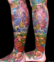 lower leg tattoo sleeves underwater leg lower part lower leg