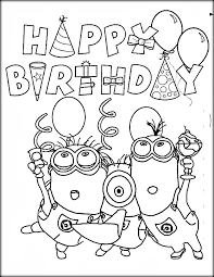free happy birthday coloring pages kids color zini