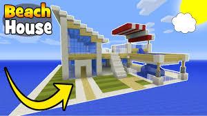 Beach Houses by Minecraft Tutorial How To Make A Modern Beach House