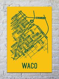 waco map waco map print posters
