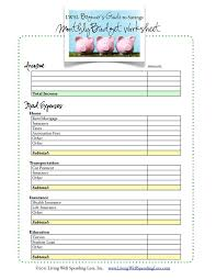 monthly budget forms templates memberpro co