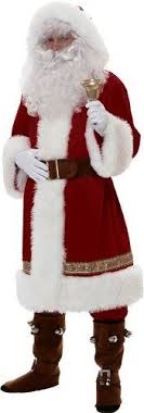 deluxe time santa suit costume s large 2356 buy