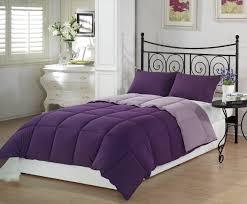 Down Comforter Full Size Amazon Com Chezmoi Collection 3 Piece Purple Lilac Super Soft