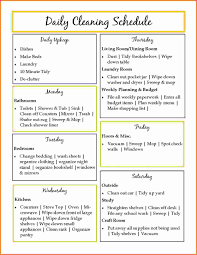 House Cleaning List Template Daily House Cleaning Schedule Sales Report Template