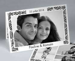 faire part de remerciement mariage carte de remerciement mariage bleu marine et blanc neptune