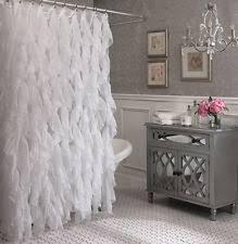 Black Ruffle Shower Curtain Shower Curtains Ebay