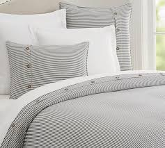 wheaton stripe duvet cover u0026 sham navy pottery barn