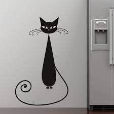 Wall Stickers Cats 45 Cat Wall Art Mid Century Modern Black Cat Plaques Wall Art