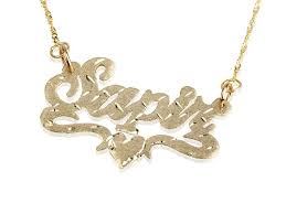 name necklace gold 14k 14k solid gold name necklace w cuts design rhlpjewelry