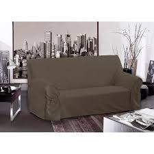 housse canapé housse de canapé taupe 205x90x60cm