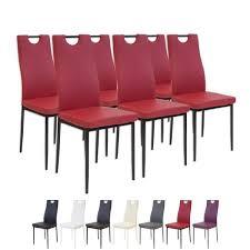 Chaise Salle A Manger Rouge by Lot De 6 Chaises Rouge Achat Vente Lot De 6 Chaises Rouge Pas