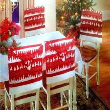 Chair Back Cover 4 X Christmas Theme Chair Hat Back Covers Xmas Party Dinner Table