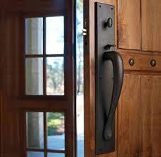 Exterior Door Furniture Uk Front Door Fixtures Black Front Door With Rubbed Bronze