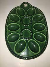 vintage deviled egg plates vintage egg tray green ebay