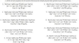 net ionic equations alexia u0027s ap chemistry lab writeups