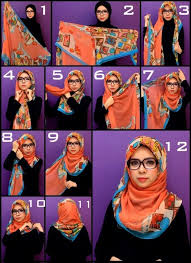 tutorial hijab persegi berkacamata لفات طرح ثقف نفسك13 crochet pinterest hijabs beautiful hijab