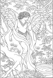 100 best coloring pages to print angels images on pinterest