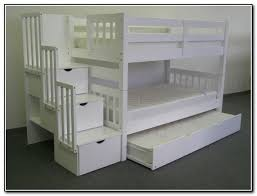 White Bunk Bed With Stairs Bunk Bed With Trundle And Stairs For Magnificent Twin Over Full