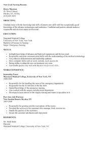 Graduate Nurse Resume Example by Examples Of Nurses Resumes Entry Level Nurse Resume Sample