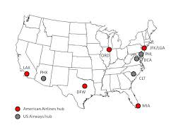 united airlines hubs us airways american airlines merger implications the stengel angle
