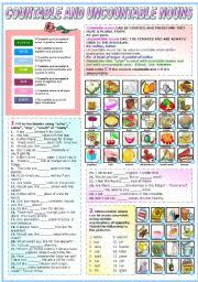 english worksheets countable and uncountable nouns worksheets page 2