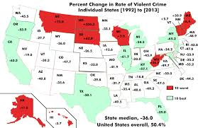 World Crime Rate Map by The Shift In Violent Crime Rates It U0027s Harder Not To