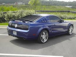 New Mustang Black Rear Window Louvers Opinions On Them For My 2006 Black Mustang