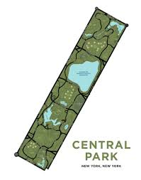 Map Central Park Central Park Map Print U2013 Jelly Brothers