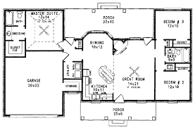 Colonial Floor Plans Colonial Style House Plan 3 Beds 2 00 Baths 1298 Sq Ft Plan 14 139