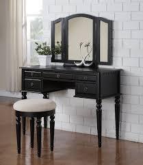 Wood Contemporary Bedroom Set With Metal Legs Bedroom Furniture Black Modern Wooden Dressing Table Vanity