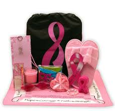 cancer gift baskets show you care be aware breast cancer gift tote s gift