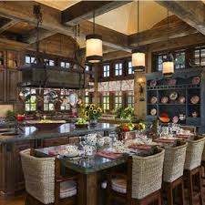 Country Farmhouse Kitchen Designs Country Rustic Country Open Kitchen Photos